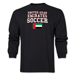 United Arab Emirates LS Soccer T-Shirt (Black)