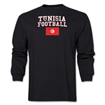Tunisia LS Football T-Shirt (Black)