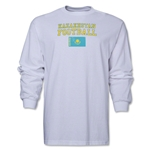 Kazakhstan LS Football T-Shirt (White)