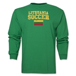 Lithuania LS Soccer T-Shirt (Green)