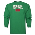 Morocco LS Football T-Shirt (Green)