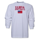 Samoa LS Football T-Shirt (White)