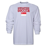 Singapore LS Soccer T-Shirt (White)