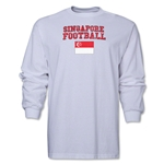 Singapore LS Football T-Shirt (White)