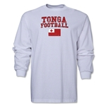 Tonga LS Football T-Shirt (White)