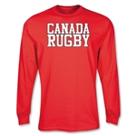 Canada Supporter LS Rugby T-Shirt (Red)
