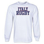Italy Supporter LS Rugby T-Shirt (White)