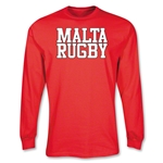 Malta Supporter LS Rugby T-Shirt (Red)