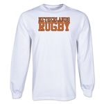 Netherlands Supporter LS Rugby T-Shirt (White)