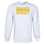 Romania Rugby Supporter LS T-Shirt (White)