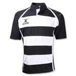 Gilbert Xact Hooped Rugby Jersey (Black/White)