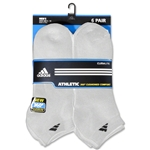 adidas 6-pack Low Cut Sock (White)