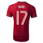 Portugal 12/14 NANI Authentic Home Soccer Jersey