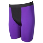 Two-Tone Compression Shorts-7 Inseam (Pur/Blk)