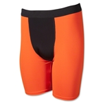Men's Two-Tone Compression Short (Neon Orange)