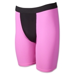 Men's Two-Tone Compression Short (Neon Pink)