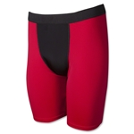 Men's Two-Tone Compression Short (Red/Blk)