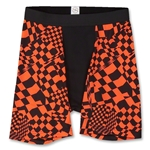 Men's Orange Rancing Compression Short-7 Inseam (Org/Blk)
