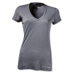 Under Armour Women's HeatGear Touch V-Neck (Gray)