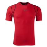 Under Armour HeatGear Vented Compression T-Shirt (Red)