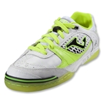 Joma Sala Max Indoor Soccer Shoes (White/Citron/Black)