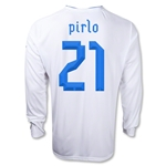 Italy 12/14 PIRLO Long Sleeve Away Soccer Jersey
