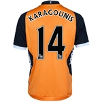 Fulham 12/13 KARAGOUNIS Authentic Away Soccer Jersey