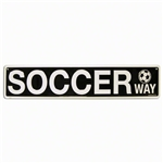 Soccer Way Aluminum Sign