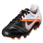 Nike CTR360 Libretto II FG KIDS Cleats (Black/White/Total Orange)