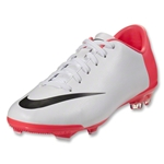 Nike Junior Mercurial Glide III FG (White/Black/Solar Red)