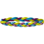 Under Armour Braided Mini Headband (Royal/Lime Green)