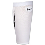 Nike Guard Lock Elite Shin Guard Sleeves (White/Black)