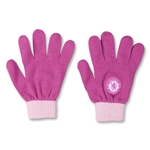 Chelsea Ladies Pink Knitted Gloves