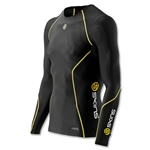 SKINS A200 LS Comprression Top (Black/Yellow)