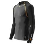 Skins S400 Thermal Long Sleeve Top (Blk/Orange)