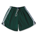 Fit2Win Women's Tricot Mesh Lacrosse Shorts (Dark Green)