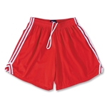 Fit2Win Women's Tricot Mesh Lacrosse Shorts (Red)