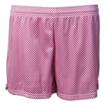 White Hole Mesh Women's Lacrosse Shorts (Fuchsia)