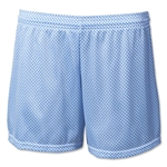 White Hole Mesh Women's Lacrosse Shorts (Sky)