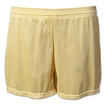White Hole Mesh Women's Lacrosse Shorts (Yellow)