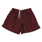FIT2WIN Women's Crazy Tricot Mesh Lacrosse Shorts (Maroon)