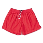 FIT2WIN Women's Crazy Tricot Mesh Lacrosse Shorts (Red)