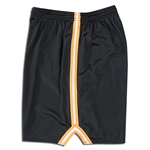 Mesh Lacrosse Shorts with Three-Stripe Braid (Bk/Gold)