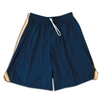 Mesh Lacrosse Shorts with Three-Stripe Braid (Nvy/Yel)