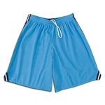 Mesh Lacrosse Shorts with Three-Stripe Braid (Sky/Nvy)