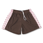 Fit2Win Women's Polka Dot Lacrosse Shorts (Brown)