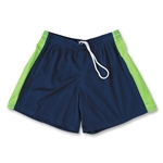 Fit2Win Women's Polka Dot Lacrosse Shorts (Navy)