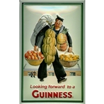 Looking Forward to a Guinness Metal Sign