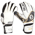 Select 99 Hand Guard Goalkeeper Gloves (WHITE/BLACK/GOLD)