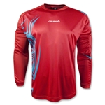 reusch Bakura Long Sleeve Goalkeeper Jersey (Red)